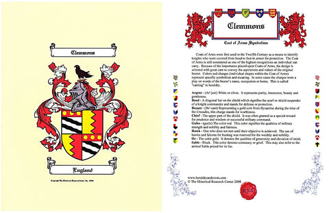 Email Only JPEG or PDF Coat of Arms & Symbolism 2 Pages