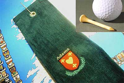Golf towel coat of arms