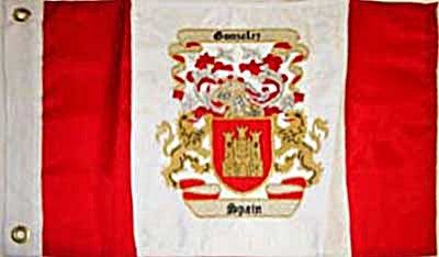Coat of Arms Yard Flag Red