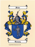 Color Coat of Arms & Symbolism Page W/Free US S&H