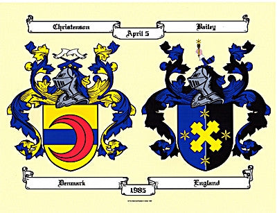 20% Off Email Only JPEG Digital Image DBL Wedding/Color Coat of Arms-Same day
