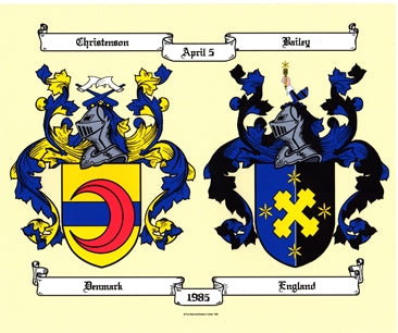 "DBL Color Coat of Arms buy 1 get 1 FREE ""Get a FREE item unframed of same name"""