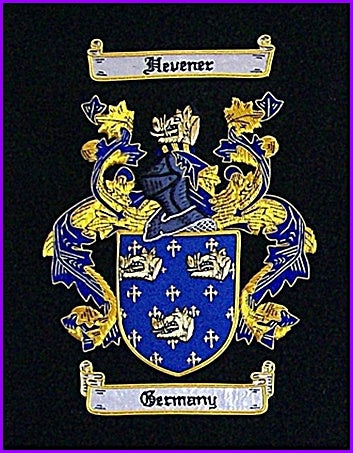 "8.75"" x 11"" Hand Embroidery Coat of Arms W/Free US S&H"