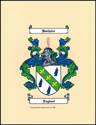 JPEG or PDF Digital Image Coat of Arms-Same Day Researched & Authentic