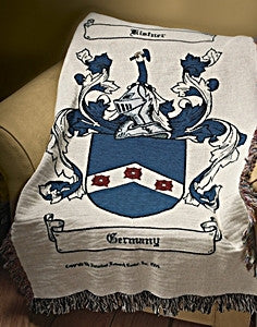 Coat of arms family crest throw