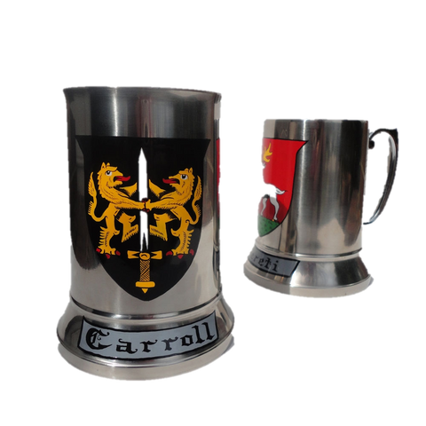 Hand Painted Coat of Arms Beer Tankard W/Free US S&H