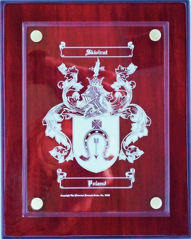 Engraved Coat of Arms Plaque Free US S&H