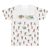 Adult Tees Takes A Village All-Over White Tee: Adult - Kottura Innovations