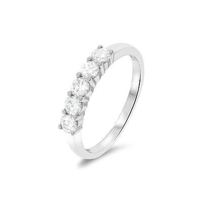 0.71ctw Genuine Natural Diamond Ring Size 7.25 18kt White Gold