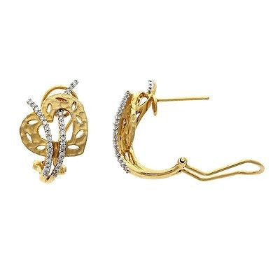 0.29ctw Genuine Natural Diamond French Clip Earrings 14kt Yellow Gold