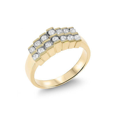 0.44ctw Genuine Natural Diamond Ring Size 6.75 14kt Yellow Gold