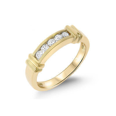 0.26ctw Genuine Natural Diamond Band Ring Size 6.25 14kt Yellow Gold