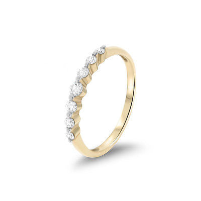 0.25ctw Genuine Natural Diamond Band Ring Size 6 14kt Yellow Gold