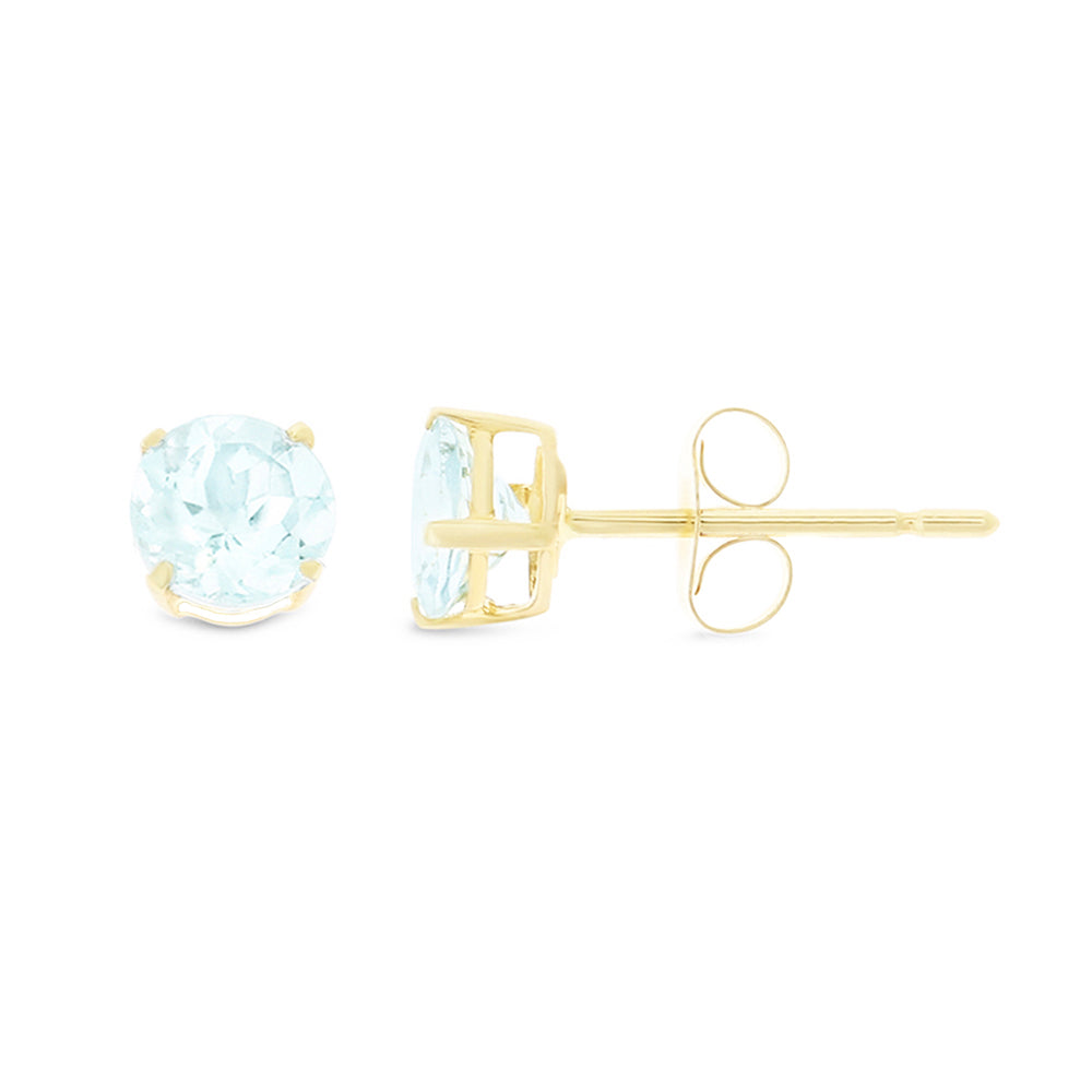 earrings jewelry ctw image genuine gold ref rose aquamarine