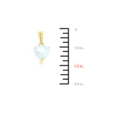 0.82ctw 6 mm. Heart Shaped Genuine Natural Aquamarine Pendant 14kt Yellow Gold
