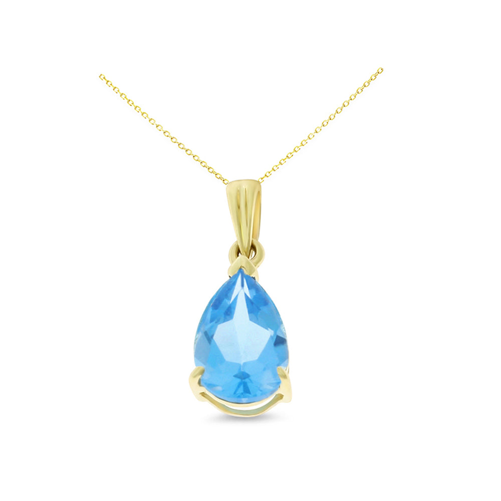 154ctw 6 x 8 mm pear shaped genuine natural blue topaz pendant pear shaped genuine natural blue topaz pendant 14kt yellow aloadofball Gallery