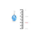 1.48ctw 6 x 8 mm. Oval Shaped Genuine Natural Blue Topaz Pendant 14kt White Gold