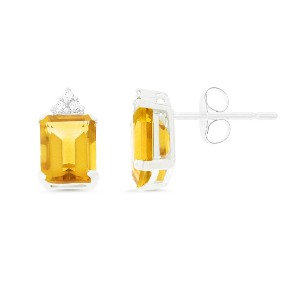 316ec7f7b Emerald Cut Genuine Natural Citrine and Diamond Earr – Rendez Vous Jewelry
