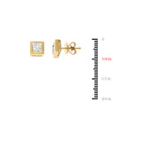 0.86ctw Genuine Natural Diamond Stud Earrings 18kt Yellow Gold