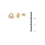 0.45ctw Genuine Natural Diamond Stud Earrings 14kt Yellow Gold