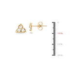 0.33ctw Genuine Natural Diamond Stud Earrings 14kt Yellow Gold