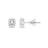 0.27ctw Genuine Natural Diamond Stud Earrings 18kt White Gold