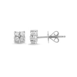0.36ctw Genuine Natural Diamond Stud Earrings 18kt White Gold