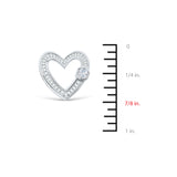 0.71ctw Genuine Natural Diamond Heart Shaped Pendant 18kt White Gold