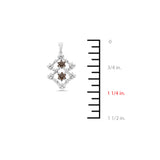 0.57ctw Genuine Natural Champagne + White Diamond Pendant 14kt White Gold