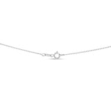 "22"" 1.0 mm. Round Bead Necklace Gold Chain 14kt White Gold"