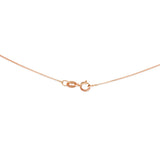 "16"" 0.6 mm. Square Box Necklace Gold Chain 14kt Rose Gold"