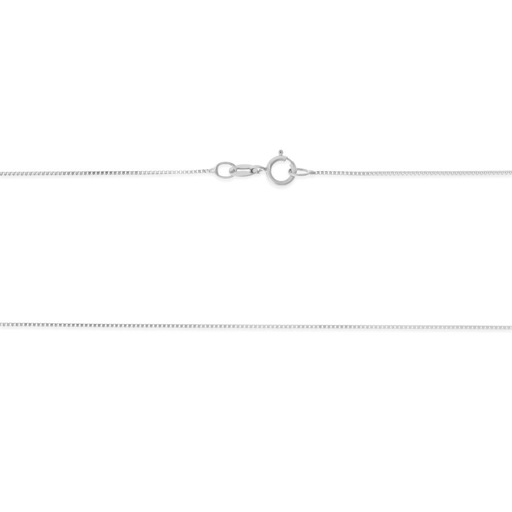 "16"" 0.6 mm. Square Box Necklace Gold Chain 14kt White Gold"
