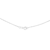 "16"" 1.0 mm. Bar & Bead Necklace Gold Chain 14kt White Gold"
