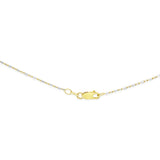 "16"" 1.0 mm. Bar & Bead Two-Tone Necklace Gold Chain 14kt Yellow Gold"