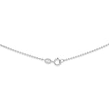"20"" 0.8 mm. Round Rolo Necklace Gold Chain 14kt White Gold"