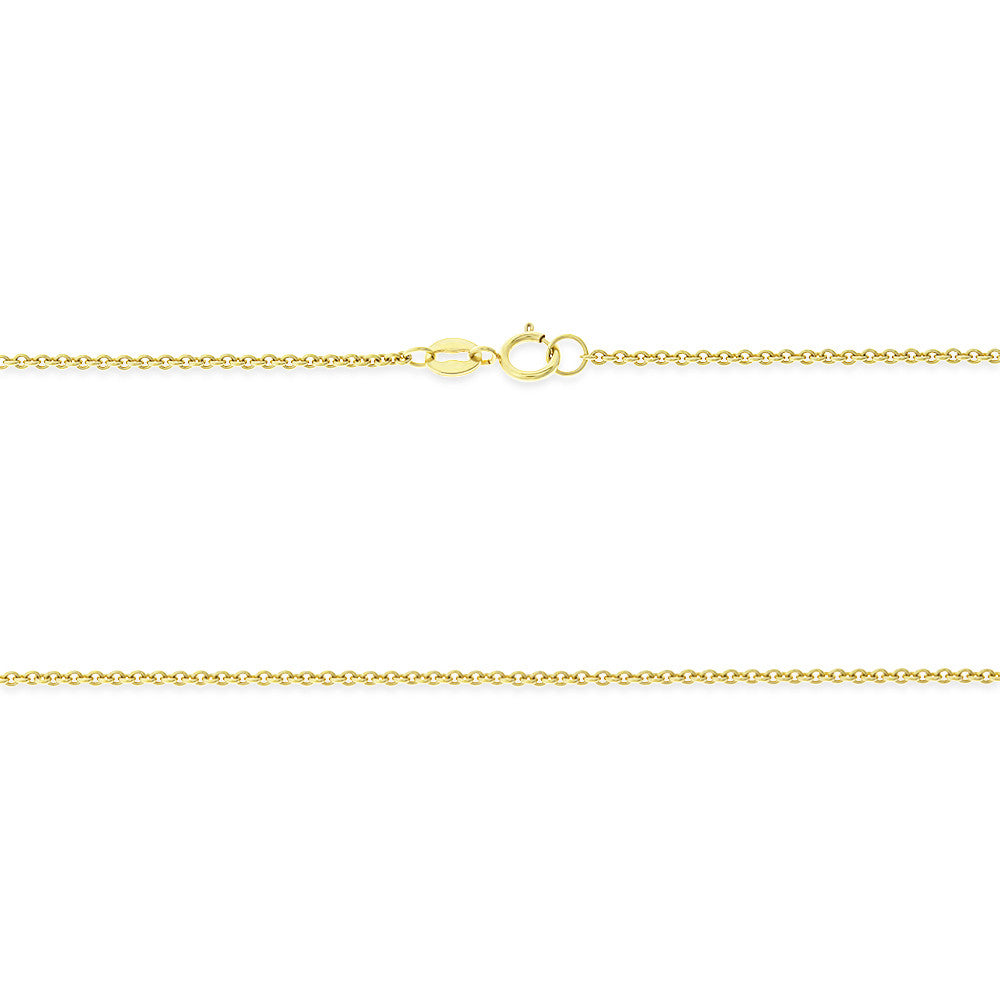 "18"" 0.8 mm. Round Rolo Necklace Gold Chain 14kt Yellow Gold"