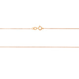 "18"" 0.6 mm. Round Rolo Necklace Gold Chain 14kt Rose Gold"