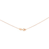 "16"" 0.6 mm. Round Rolo Necklace Gold Chain 14kt Rose Gold"