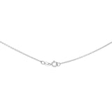 "20"" 0.6 mm. Round Rolo Necklace Gold Chain 14kt White Gold"