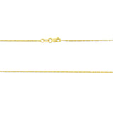 "20"" 0.8 mm. Raso Necklace Gold Chain 14kt Yellow Gold"