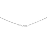 "18"" 0.8 mm. Square Snake Necklace Gold Chain 14kt White Gold"