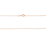 "16"" 0.4 mm. Square Rolo Necklace Gold Chain 14kt Rose Gold"