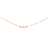 "18"" 0.6 mm. Square Rolo Necklace Gold Chain 14kt Rose Gold"