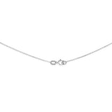 "18"" 0.4 mm. Square Rolo Necklace Gold Chain 14kt White Gold"