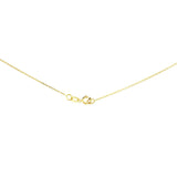 "18"" 0.4 mm. Square Rolo Necklace Gold Chain 14kt Yellow Gold"