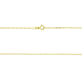 "18"" 1.0 mm. Singapore Necklace Gold Chain 14kt Yellow Gold"
