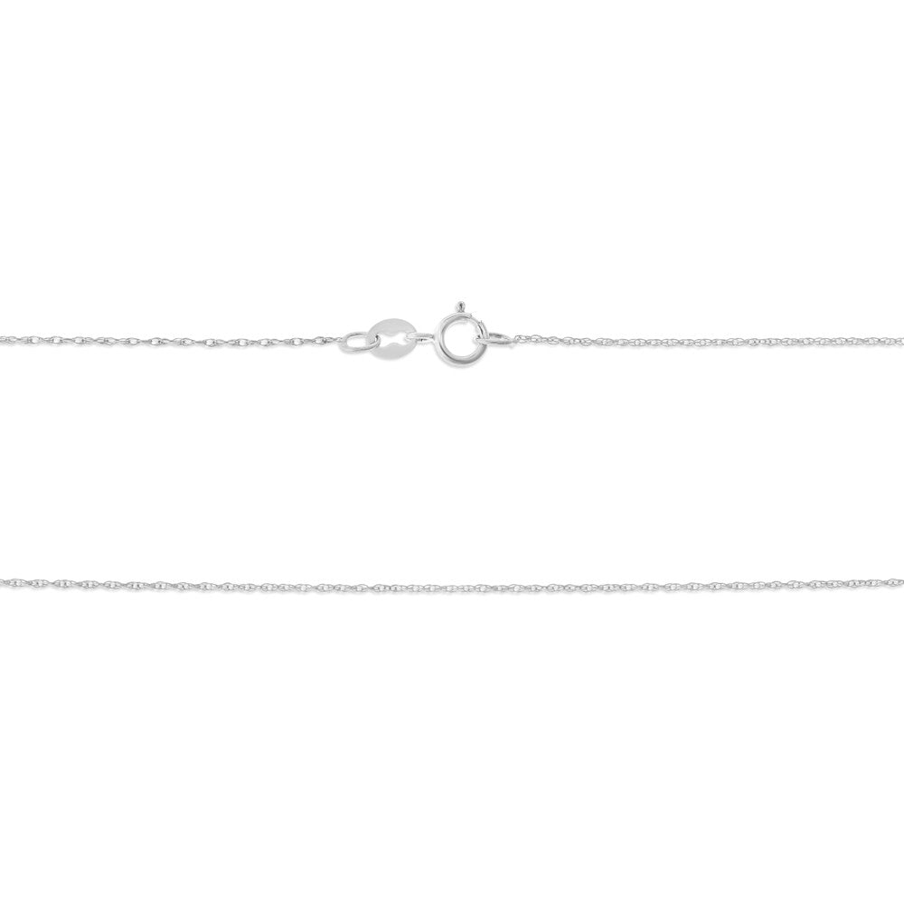 "18"" 0.5 mm. Rope Necklace Gold Chain 14kt White Gold"