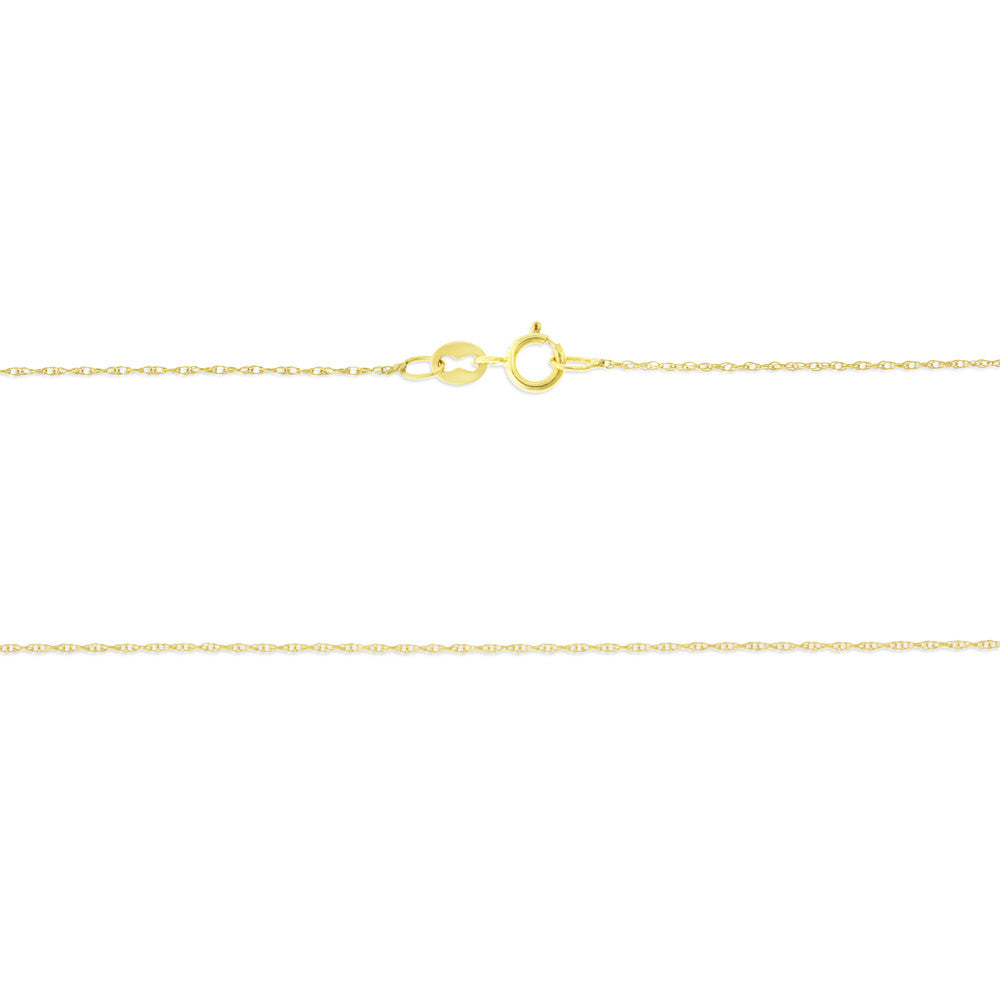 "16"" 0.5 mm. Rope Necklace Gold Chain 14kt Yellow Gold"