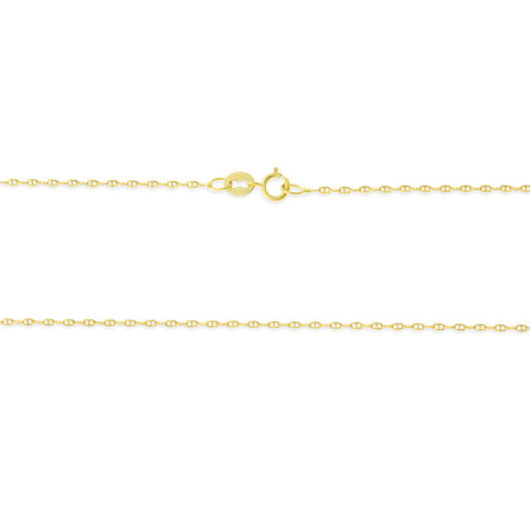 "16"" 0.6 mm. Anchor Link Necklace Gold Chain 14kt Yellow Gold"