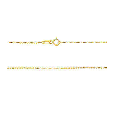"20"" 0.7 mm. Oval Rolo Necklace Gold Chain 14kt Yellow Gold"
